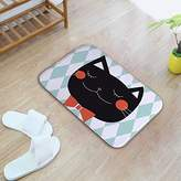 ZE-PXD Cute kitty at bedroo bedside kitchen bathroo at anti-skid dirt absorbent pad