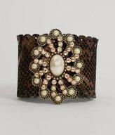 Leather Rock Metallic Bracelet