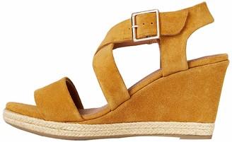 Find. Wedge Crossover Suede Espadrille Flatform Sandals Red) 4 UK