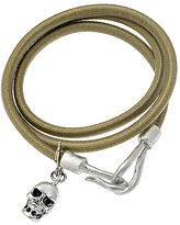 Claudia Rowe Champagne Bungee and Skull Wrap Bracelet