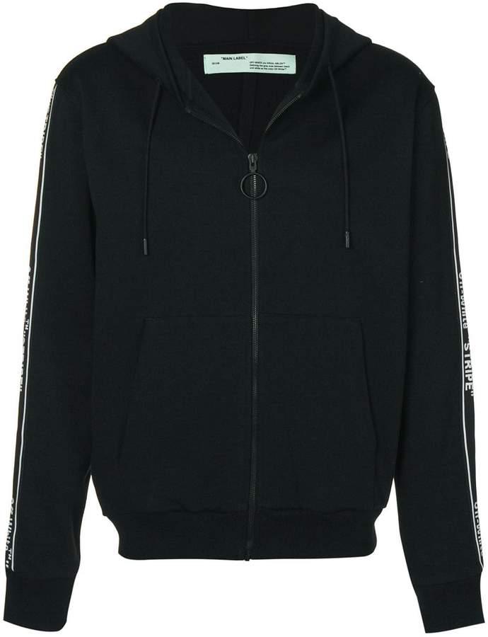 Off-White zipped stripe hoodie