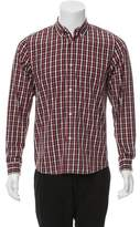A.P.C. Plaid Button-Up Shirt