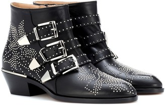 Chloã© Susanna studded leather ankle boots
