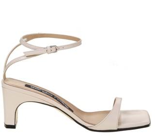 Sergio Rossi Sr1 Sandal In Cream Color Leather