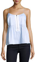 Elizabeth and James Eloise Striped Poplin Tank, Light Blue/White