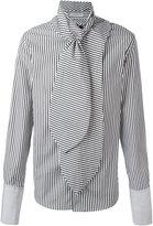 J.W.Anderson scarf detail shirt - men - Cotton - 46