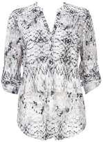 Wallis Monochrome Animal Print Lightweight Shirt