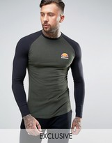 Ellesse Muscle Fit Long Sleeve T-shirt With Small Logo