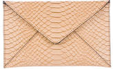 Loeffler Randall Embossed Leather Envelope Clutch