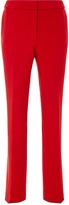Oscar de la Renta High-Waist Wool-Blend Straight-Leg Pants