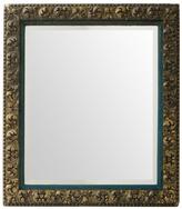 Rejuvenation Large Beveled Mirror w/ Oak Leaf Frame and Velvet Liner c1885