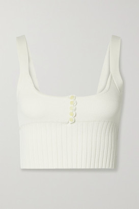 Altuzarra Leen Cropped Knitted Top - White