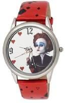 Disney Alice in Wonderland Women's AL1011 Red Queen Mirror Dial Red Leather Strap Watch