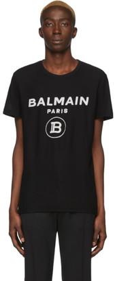 Balmain Black Velvet Logo T-Shirt