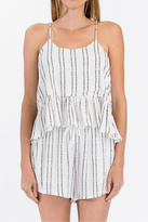Olivaceous Striped Tank Top