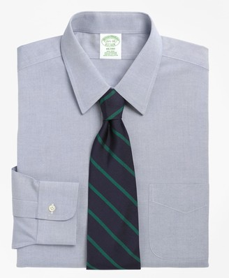 Brooks Brothers Milano Slim-Fit Dress Shirt, Non-Iron Point Collar