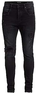 Purple Brand Men's P002 Slim Dropped Fit Repair Jeans
