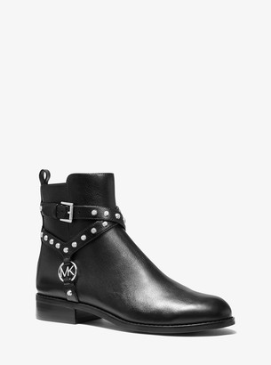 MICHAEL Michael Kors Preston Studded Leather Ankle Boot