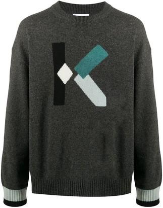 Kenzo Intarsia-Knit Logo Jumper