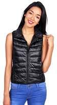 Ambiance Women's Lightweight Zip Up Collared Down Vest