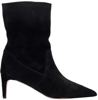 RED Valentino High Heels Ankle Boots In Black Suede