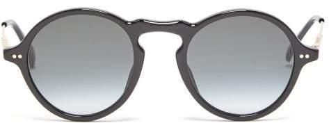 Givenchy Round Acetate Sunglasses - Mens - Black