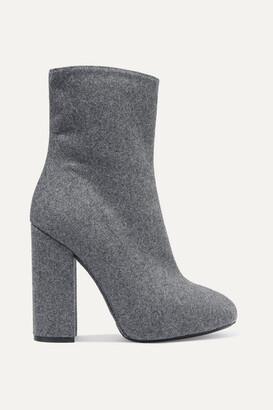Dries Van Noten Wool And Silk-blend Felt Ankle Boots - Gray