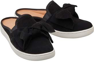 UGG Womens Luci Bow Slip On Sandals Black