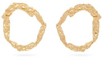 Chloé Anouck Crinkled Hoop Earrings - Womens - Gold