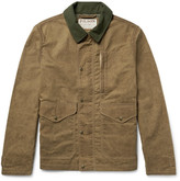 Filson Mile Marker Moleskin-trimmed Waxed-cotton Jacket - Tan