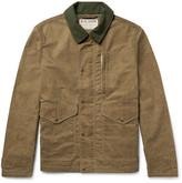 Filson Mile Marker Moleskin-Trimmed Waxed-Cotton Jacket