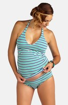 Pez D'or Women's Striped Sporty Tankini Maternity Swimsuit