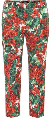Dolce & Gabbana Cropped low-rise straight pants