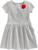 Epic Threads Double Knit Heart Dress, Little Girls (4-6X), Created for Macy's