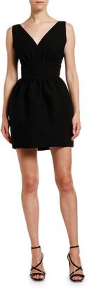 MSGM Abito V-Neck Sleeveless Mini Pouf Dress