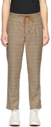 Nanushka Brown Check Wool Tuan Trousers