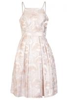 Quiz Peach Jacquard Strappy Skater Dress