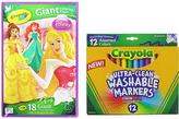 Crayola Disney Princess Giant Coloring Pad & 12-CT. Marker Set
