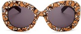 Moschino Oversized Oval Teddy Bear Sunglasses, 57mm