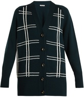 Miu Miu Braid-embroidered wool cardigan