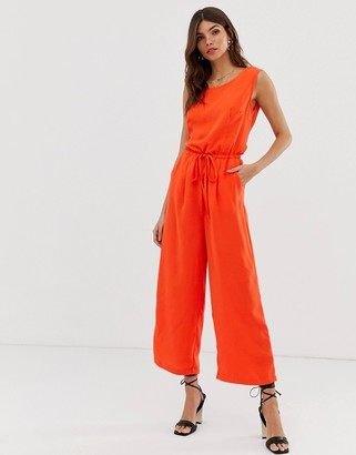 Vila drawstring waist jumpsuit