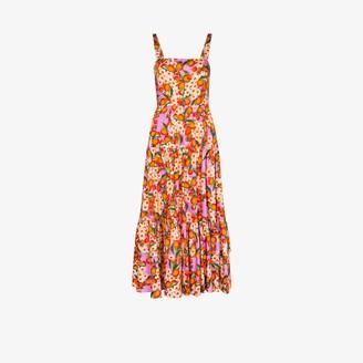 Borgo de Nor Daniella fruit print cotton midi dress