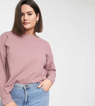Asos DESIGN Curve oversized sweat in waffle with exposed seams