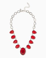 Charming charlie Oval and Teardrop Bib Necklace