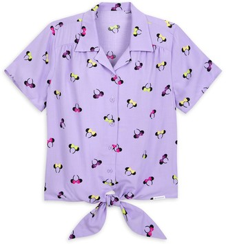 Disney Minnie Mouse Ear Headband Woven Blouse for Women by Her Universe