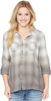 Wendy Bellissimo Maternity Ombre-Plaid Shirt
