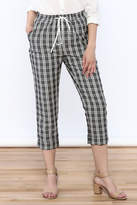 MinkPink Checked Tapered Pant