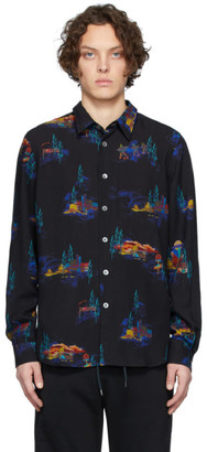 Paul Smith Black Lyocell Cosmic Camp Long Sleeve Shirt