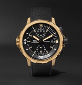 IWC SCHAFFHAUSEN Aquatimer Expedition Charles Darwin Chronograph 44mm Bronze and Rubber Watch