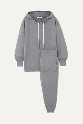 Olivia von Halle Gia London Silk And Cashmere-blend Hoodie And Track Pants Set - Gray